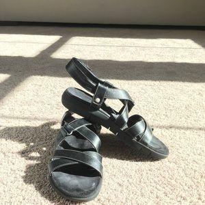 Aerosoles black sandals size 7 1/2